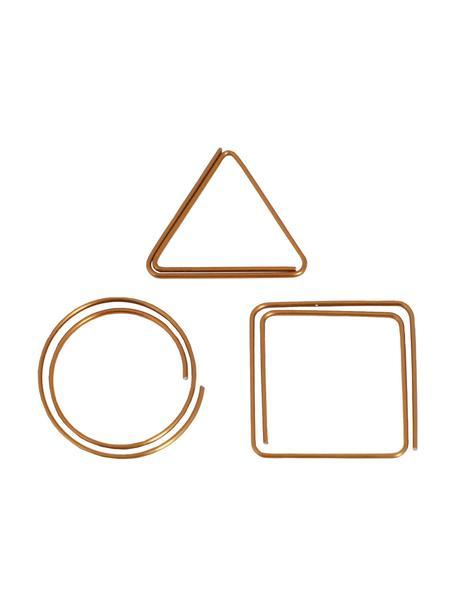 Komplet spinaczy do papieru Geometria, 9 szt., Metal lakierowany, Odcienie miedzi, S 3 x W 3 cm
