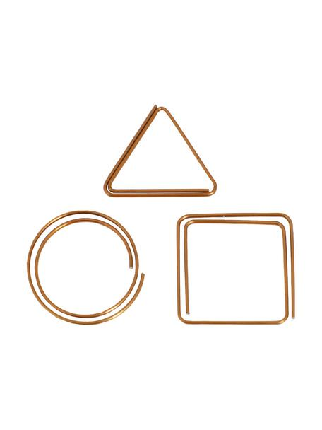 Set di graffette Geometria 9 pz, Metallo verniciato, Rame, Larg. 3 x Alt. 3 cm