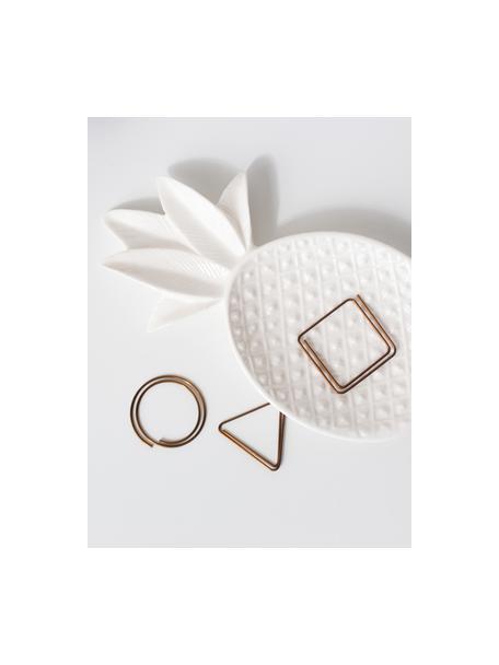 Bureauklemmenset Geometria, 9-delig, Gelakt metaal, Koperkleurig, 3 x 3 cm