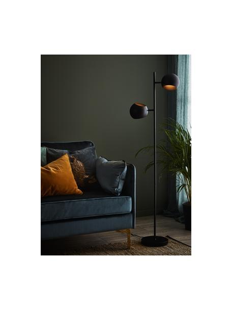 Leeslamp Edgar in zwart, Lampenkap: gelakt metaal, Lampvoet: gelakt metaal, Zwart, B 40 cm