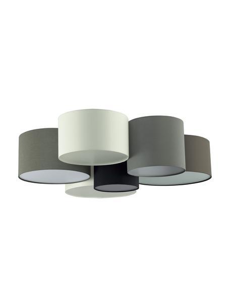 Grote plafondlamp Pastore Grande, Bruin, grijs, wit, zwart, Ø 99 x H 29 cm