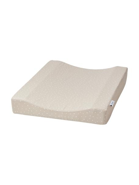 Colchón cambiador Fritz, Funda: 100%algodón ecológico, c, Beige, blanco, An 50 x L 65 cm