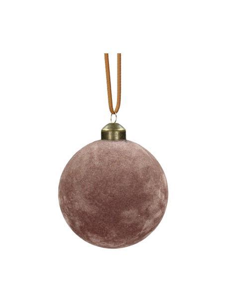 Pallina di Natale in velluto Velvet 4 pz, Ø8 cm, Rosa, Ø 8 cm