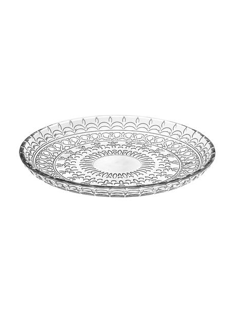 Platos de postre de cristal Fondo, 4uds., Cristal Luxion, Transparente, Ø 21 cm