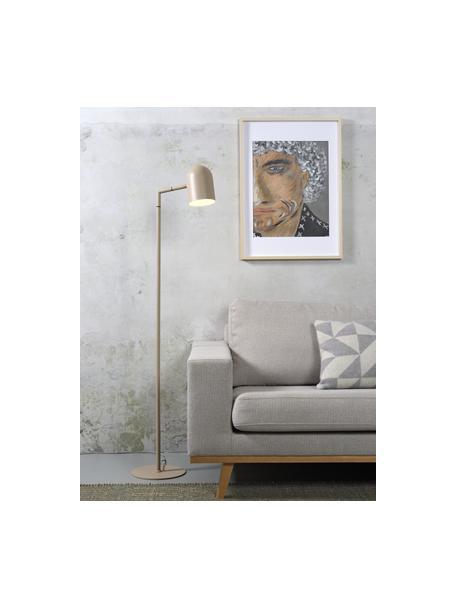 Lámpara de pie Marseille, Pantalla: metal recubierto, Cable: cubierto en tela, Color arena, An 40 x Al 141 cm