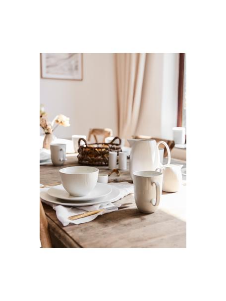 Tazas de café artesanales Sandvig, 4uds., Porcelana, coloreada, Blanco roto, Ø 8 x Al 10 cm
