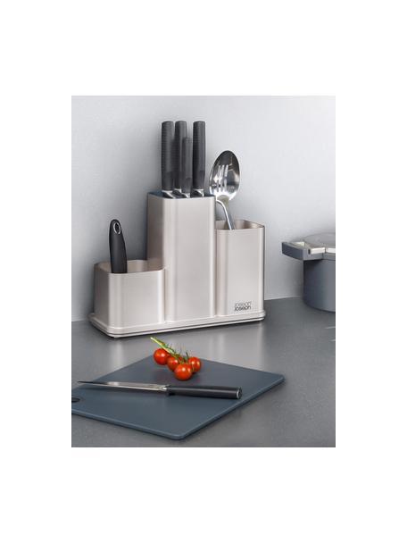 Küchenutensilienhalter CounterStore mit Schneidebrett, Silberfarben, Dunkelgrau, 31 x 23 cm