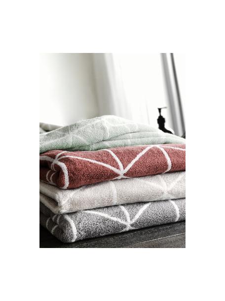 Komplet dwustronnych ręczników Elina, 3 elem., Miętowozielony, kremowobiały, Komplet z różnymi rozmiarami