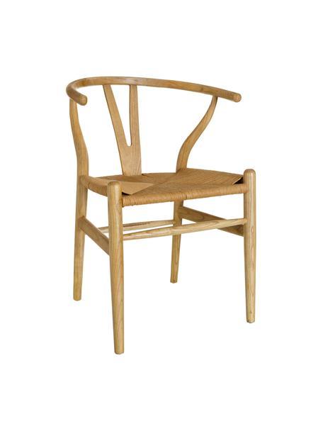 Sedia in legno Noa, Seduta: rattan, Beige, Larg. 48 x Prof. 56 cm