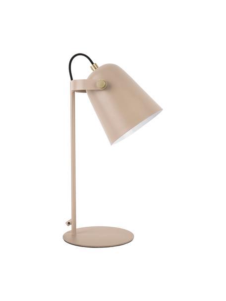 Lámpara de escritorio pequeña Steady, Pantalla: metal recubierto, Cable: cubierto en tela, Arena, An 20 x Al 26 cm