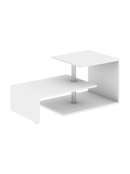 Tavolino da salotto Dilek , Asta: metallo rivestito, Bianco, Larg. 100 x Alt. 46 cm