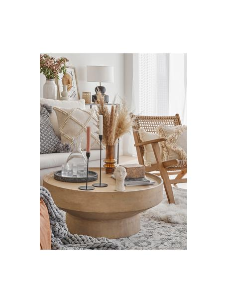 Tavolino da salotto in legno di mango Benno, Legno massiccio di mango verniciato, Grigio, Ø 80 x Alt. 35 cm