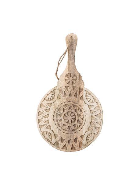 Okrągły półmisek z drewna mangowego Manu, Drewno mangowe, Beżowy, D 49 x S 28 cm