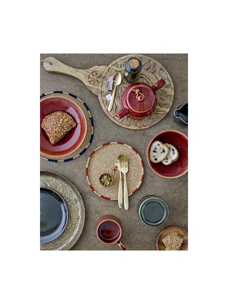 Piatto da portata rotondo in legno di mango Manu, Ø 30 cm, Legno di mango, Beige, Lung. 49 x Larg. 28 cm