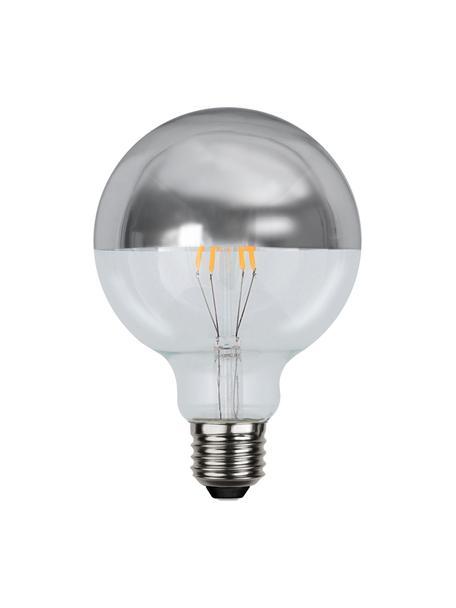 E27 peertje, 2.8 watt, dimbaar, warmwit, 1 stuk, Peertje: glas, Fitting: aluminium, Zilverkleurig, transparant, Ø 10 x H 14 cm