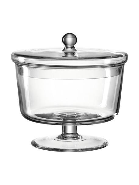 Ręcznie wykonany pojemnik do przechowywania Poesia, Szklanka, Transparentny, Ø 19 x W 18 cm