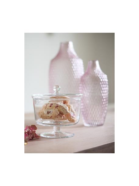 Handgemaakte opbergpot Poesia, Glas, Transparant, Ø 19 x H 18 cm