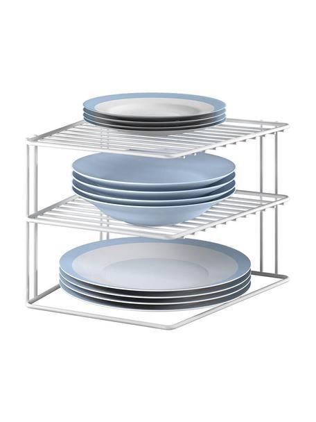 Estante de cocina Palio, Metal recubierto, Blanco, An 25 x Al 19 cm