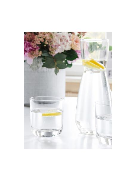 Vasos old fashioned de cristal Harmony, 6uds., Transparente, Ø 9 x Al 10 cm