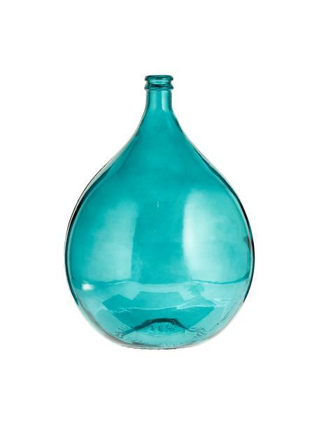 Vloervaas Mikkel van gerecycled glas, Gerecycled glas, Aquakleurig, Ø 40 x H 56 cm