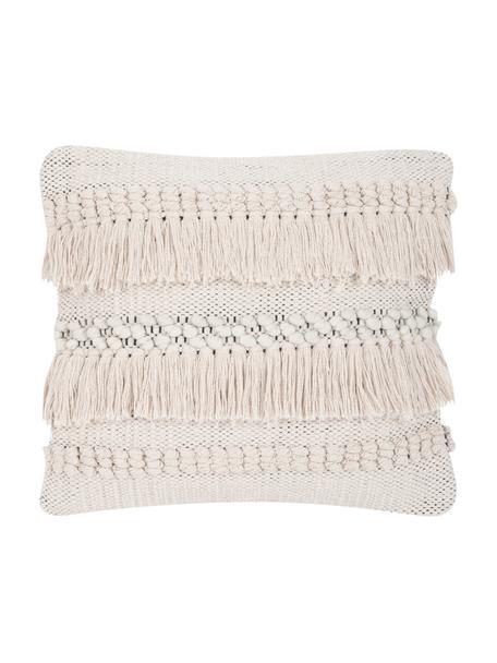 Poszewka na poduszkę boho Kele, 100% bawełna, Ecru, czarny, S 40 x D 40 cm