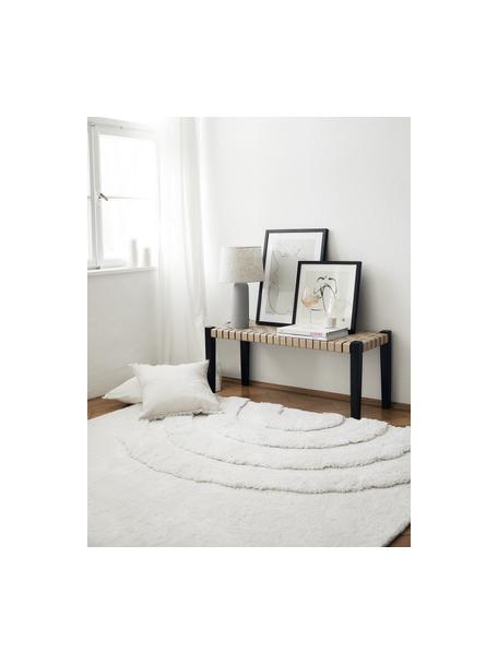 Puszysty dywan z wysokim stosem Rubbie, Beżowy, S 80 x D 150 cm (Rozmiar XS)