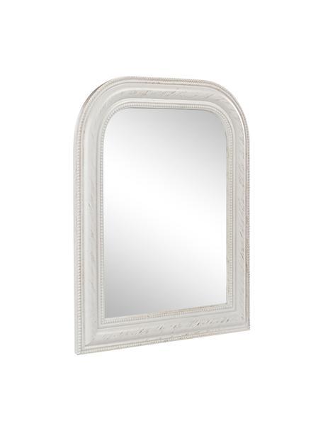 Wandspiegel Miro mit weißem Paulowniaholzrahmen, Rahmen: Paulowniaholz, Spiegelfläche: Spiegelglas, Weiß, 50 x 60 cm