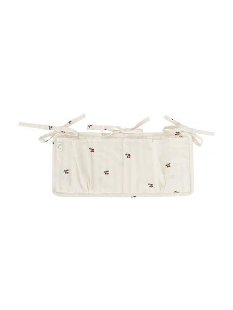 Bedtas Quaby van biologisch katoensatijn, Bekleding: bio-katoensatijn, GOTS-ge, Wit, rood, 17 x 35 cm