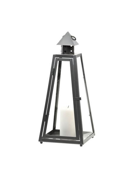 Lanterna Piramid, Argentato, Larg. 17 x Alt. 40 cm