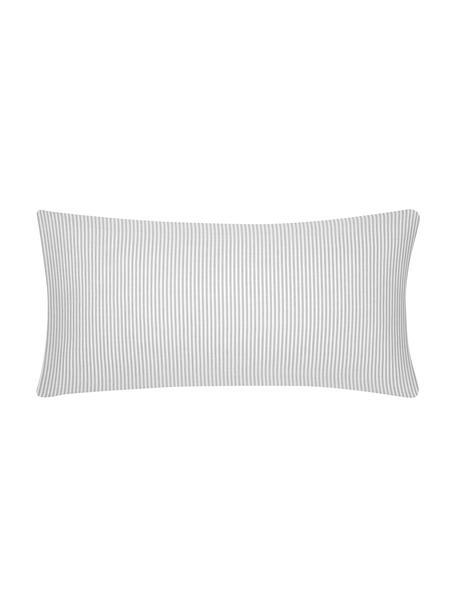 Funda de almohada de algodón Ellie, 45x85cm, Blanco, gris, An 45 x L 85 cm