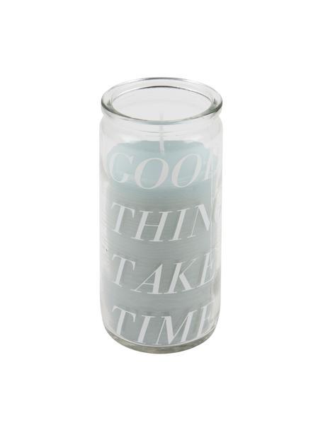 Kaars Good Things, Glas, was, Transparant, mintkleurig, Ø 6 x H 14 cm