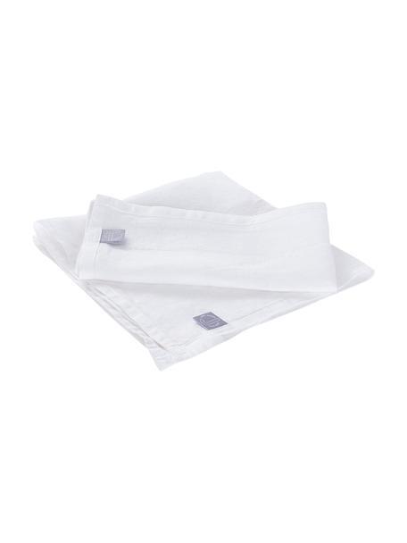 Servilletas de lino Hedda, 2uds., Lino, Blanco, An 42 x L 42 cm