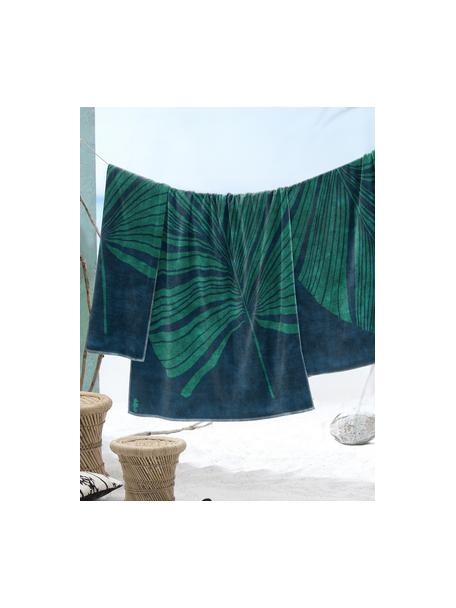 Toalla de playa Foil, Azul, verde, An 100 x L 180 cm