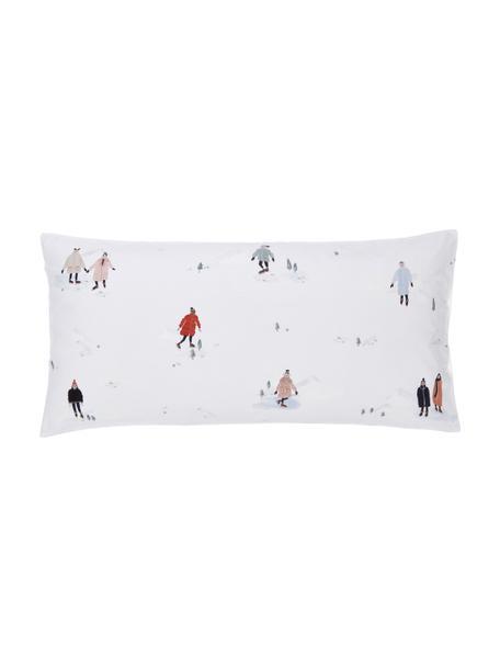 Designer Perkal-Kopfkissenbezüge Ice Skater aus Bio-Baumwolle von Candice Gray, 2 Stück, Webart: Perkal Fadendichte 180 TC, Mehrfarbig, 40 x 80 cm