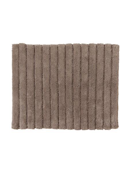 Fluffy badmat Board in bruin, Katoen, zware kwaliteit, 1900g/m², Bruingrijs, 50 x 60 cm