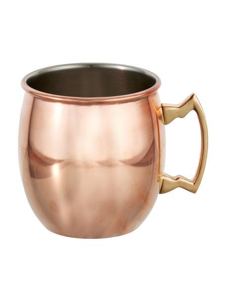 Moscow Mule Kupferbecher Shiny mit glatter Oberfläche, Stahl, außen verkupfert, Kupfer, Ø 9 x H 10 cm