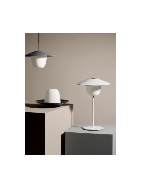 Lampada da esterno portatile e dimmerabile a LED Ani, Paralume: alluminio, Base della lampada: alluminio rivestito, Grigio scuro, Ø 34 x Alt. 121 cm