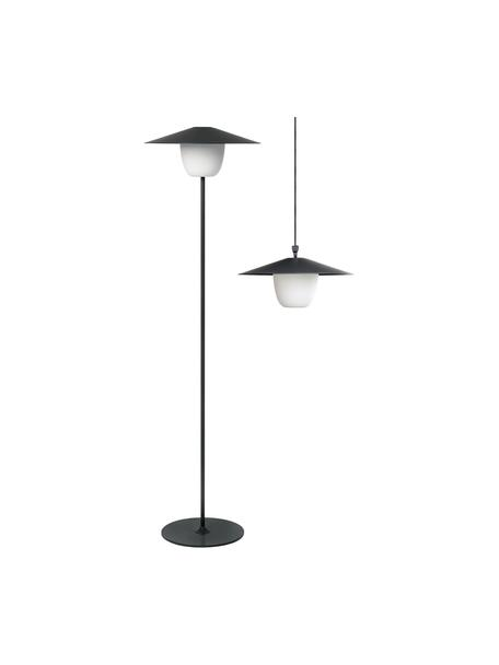 Mobiele outdoor LED lamp Ani, Lampenkap: aluminium, Lampvoet: gecoat aluminium, Donkergrijs, Ø 34 x H 121 cm