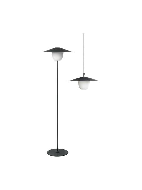 Mobile Dimmbare Außenleuchte Ani zum Hängen oder Stellen, Lampenschirm: Aluminium, Lampenfuß: Aluminium, beschichtet, Dunkelgrau, Ø 34 x H 121 cm