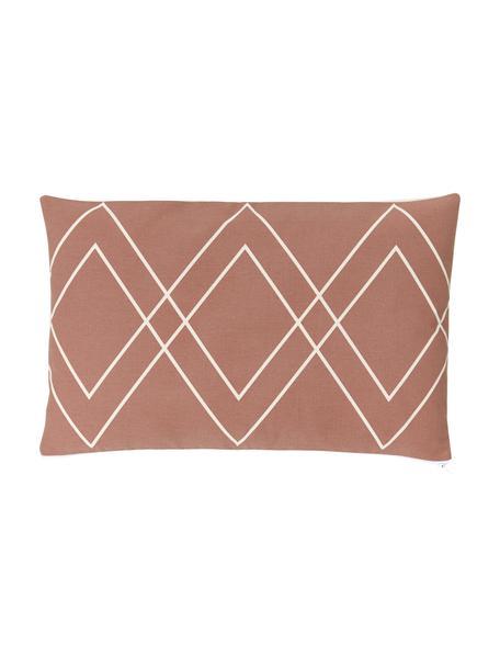 Poszewka na poduszkę w stylu boho Ausel, 100% bawełna, Terakota, S 30 x D 50 cm