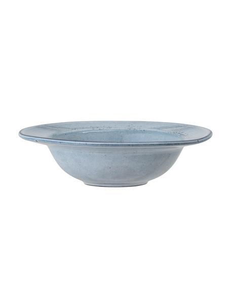 Plato hondo artesanal de gres Sandrine, Gres, Tonos azules, Ø 22 cm