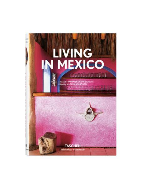 Geïllustreerd boek Living in Mexico, Papier, hardcover, Roze, multicolour, 14 x 20 cm