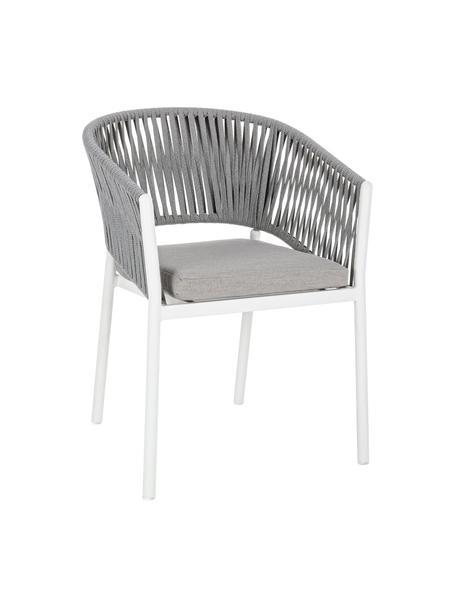 Silla apilable para exterior Florencia, Estructura: aluminio con pintura en p, Blanco, An 60 x Al 80 cm