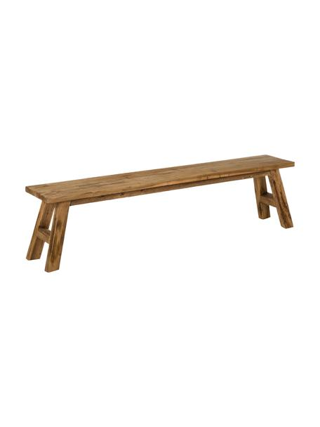 Ławka z recyklingowego drewna tekowego Lawas, Naturalne drewno tekowe, Drewno tekowe, S 180 x H 45 cm