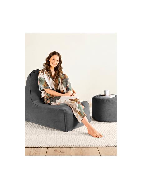 Worek do siedzenia ze sztruksu Cordone, Tapicerka: sztruks (96% poliester, 4, Antracytowy, S 70 x W 80 cm