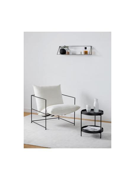 Mesa auxiliar de madera Renee, Tablero: tablero de fibras de dens, Estructura: metal, con pintura en pol, Negro, Ø 44 x Al 49 cm