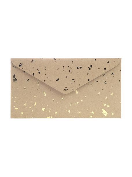 Buste Carat 3 pz, Carta kraft, Marrone, dorato, Larg. 24 x Alt. 14 cm