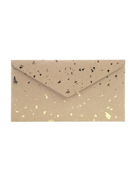 Enveloppen Carat, 3 stuks, Kraftpapier, Bruin, goudkleurig, 24 x 14 cm