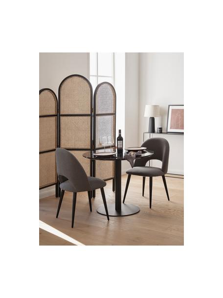 Runder Esstisch Karla in Marmor-Optik in Schwarz, Tischplatte: Mitteldichte Holzfaserpla, Schwarz in Marmor-Optik, ∅ 90 x H 75 cm