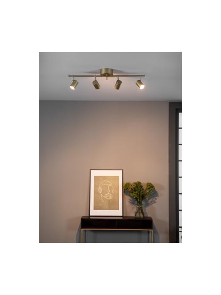 Grote plafondspot Correct in goudkleur, Baldakijn: gecoat metaal, Goudkleurig, 83 x 18 cm